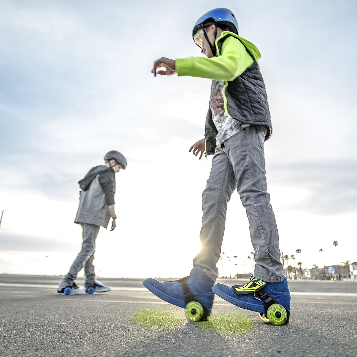 Kid's Neon Clip-On Skates by Yvolution